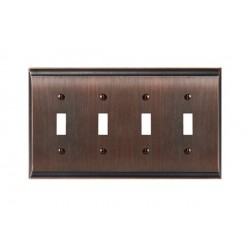 Amerock BP36503 Candler 4 Toggle Wall Plate, Oil-Rubbed Bronze Candler