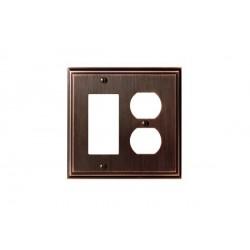 Amerock BP36525 Mulholland 1 Rocker 2 Plug Wall Plate, Oil-Rubbed Bronze Mulholland