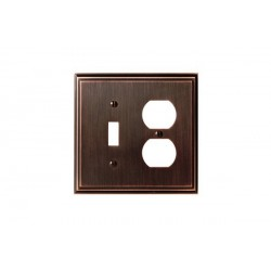 Amerock BP36524 Mulholland 1 Toggle 2 Plug Wall Plate, Oil-Rubbed Bronze Mulholland