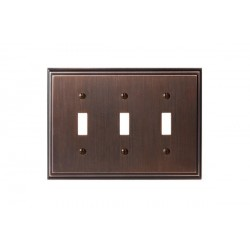 Amerock BP36516 Mulholland 3 Toggle Wall Plate, Oil-Rubbed Bronze Mulholland