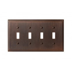 Amerock BP36517 Mulholland 4 Toggle Wall Plate, Oil-Rubbed Bronze Mulholland