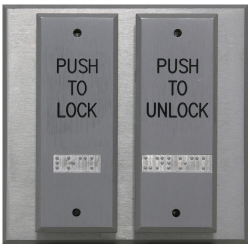 Deltrex T108 Series 2 Narrow Push Plate Switch