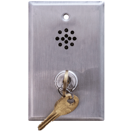 Deltrex F221 Series Bell Cylinder Door Violation Alarm Key Switch Mounted on a 1-Gang Plate