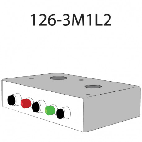 Deltrex 126-3M1L2 Series Coordinated Snap-Action Momentary Push Call Button