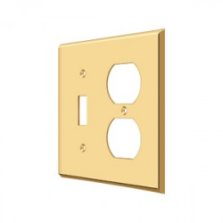 Deltana SWP4762 Switch Plate, Single Switch/Double Outlet