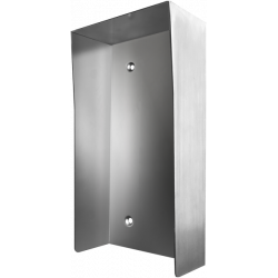 DoorBird D2101V-PH Protective-Hood Video Door Sataion, Stainless Steel Brushed, for in Use with Surface Mounting Housing