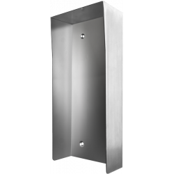 DoorBird D2102V/03V PH Protected-Hood Video Door Sataion, Stainless Steel Brushed, for in Use with Surface Mounting Housing