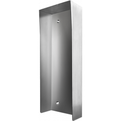 DoorBird D2101 KV-PH Protected-Hood Video Door Station, Stainless Steel Brushed, for in Use with Surface Mounting Housing