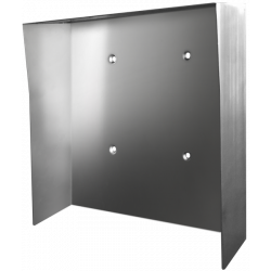DoorBird D21XKH-PH Protected-Hood Video Door Sataion, Stainless Steel Brushed, for in Use with Surface Mounting Housing