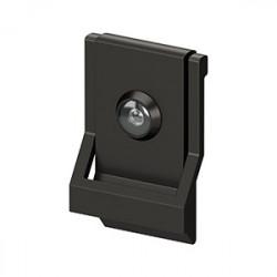 Deltana Modern Door Knocker, UL Listed Viewer, Solid Brass