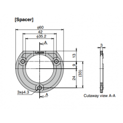 Sugatsune HK-CH35-DP3 Distantance Plate Counter Hook Spacer for HK-CH35