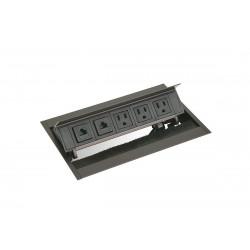 Mockett PCS50C Pop-Up Power Grommets with Brush Liner (3 Power / 2 Data)
