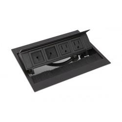 Mockett PCS50G Pop-Up Power Grommets with Brush Liner (2 Power/2 Flex-Port)