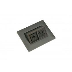 Mockett PCS43C/DE Contemporary Flip-Up Power Grommets - 1 Power/1 Data