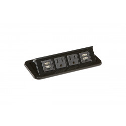Mockett PCS68/2E/U2 Flip-Up Power Grommets - 2 Power/2 Dual USB