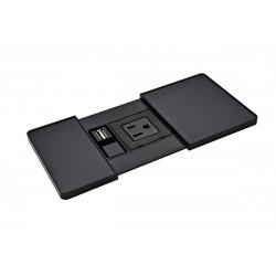 Mockett PCS104 Sliding Lid Power Grommets - Power/Charging USB