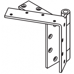 "Mckinney TA5394 Heavy Weight Beveled Edge Non-Ferrous Bearing 4"" Door Leg Hinge, 5"" x 4 1/2"""