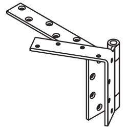 """Mckinney TA5392 Heavy Weight Beveled Edge Non-Ferrous Bearing Hinge, 5"""" x 4 1/2"""""""