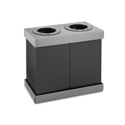 Alpine 471 Bin Recycling Center, 28 Gallon, Black