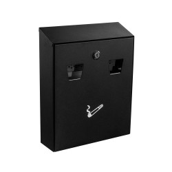 Alpine 490-01-BLK All-In-One Wall Mounted Cigarette Disposal Station, Black