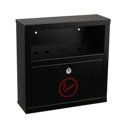 Alpine 490-02-BLK Quick Clean Wall Mounted Cigarette Disposal Bin, Black
