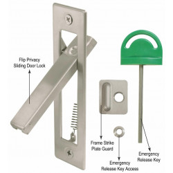 Cal Royal SDLFP Flip Privacy Sliding Door Lock