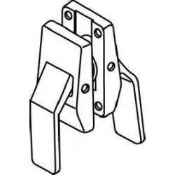 "Trimco 1562Qxx Mortise Push/Pull Latchset Both Levers Down 2-3/4"" Backset ASA Strike"