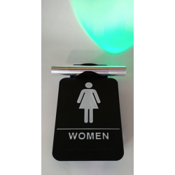 Heads Up Lock Elegant Model, Restroom Indicator Women Sign, Complete Kit
