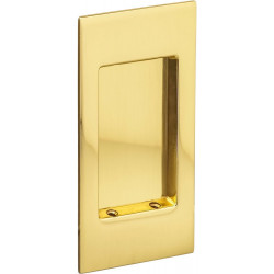 Omnia 7036 Modern Rectangular Flush Pull – Solid Brass