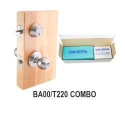 Cal Royal BA00 / T220 Combination Entrance and Single Cylinder Deadbolt, Satin Stainless Steel