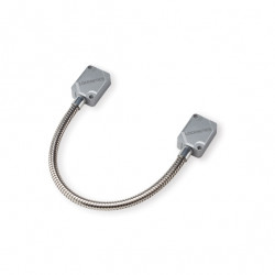 Locknetics Light Duty Door Cord with Silver Plastic End Caps, Stainless Steel