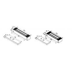 Locknetics L & Z Bracket, Aluminum- 600-1200 lb