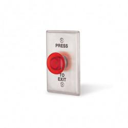 Locknetics LED illuminated Mushroom Style Round Push Button