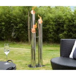 Bio-Blaze BB-PL Pipes Large Fireplace