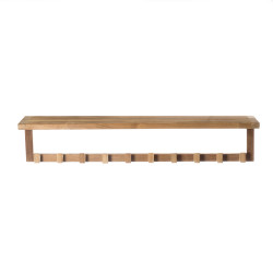 ARB Teak ACC592 SpaTeak Wall Bath Shelf w/ 10 Hooks