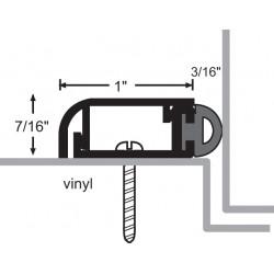 NGP 170V Aluminum Vinyl Perimeter Seal w/ Concealed Fastener