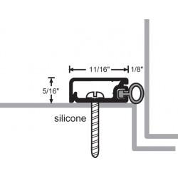 NGP 172S Aluminum Silicone Perimeter Seal w/ Concealed Fastener