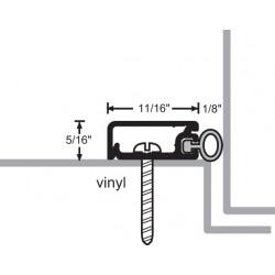 NGP 172V Aluminum Vinyl Perimeter Seal w/ Concealed Fastener