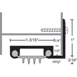 NGP 313V Aluminum Finned Vinyl Door Shoe