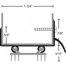 NGP 319ET6 Aluminum Thermoplastic Door Shoe