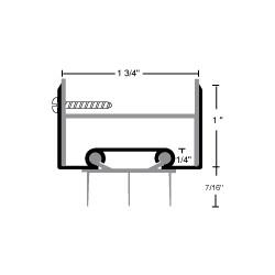 NGP 35ET Aluminum Thermoplastic Door Shoe w/ Notched Fins
