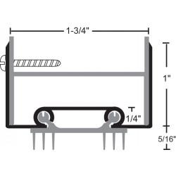 NGP 35ET6 Aluminum Thermoplastic Door Shoe
