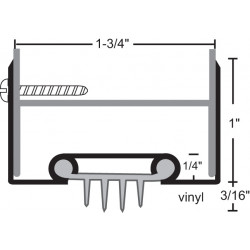 NGP 35EV Aluminum Finned Vinyl Door Shoe