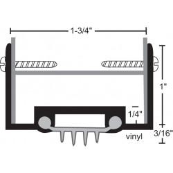 NGP 35V Aluminum Finned Vinyl Door Shoe