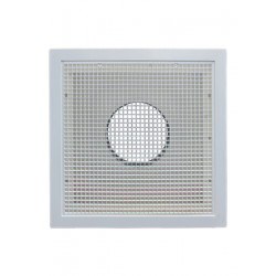 American Louver STR-ERFG Stratus Plastic Round Collar Transition Filter Grille