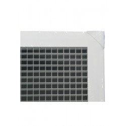 "American Louver AG 1/2"" Cube Aluminum Eggcrate Grille For T-Bar Ceiling"