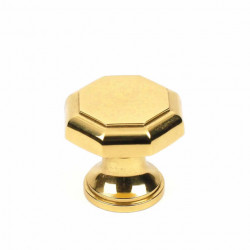 Century 10205-3 Classique Solid Brass Knob, Polished Brass, 1 1/4""