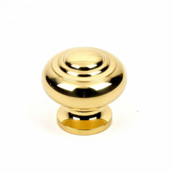 """Century 11705 Classique Solid Brass Knob, 1 1/4"""" Diameter"""