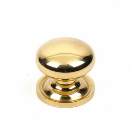 "Century 12705-3 Classique Solid Brass Knob, Polished Brass, 1 1/4"" Diameter"