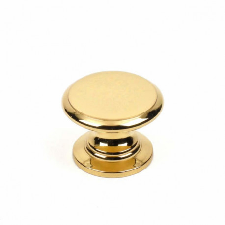"Century 13305-3 Classique Solid Brass Knob, Polished Brass, 1 1/4"" Diameter"